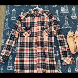 NWOT Flannel button down top.